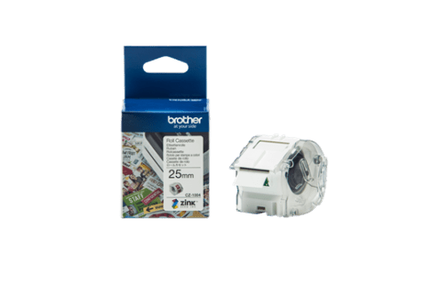 Brother CZ-1004 Full Colour continuous label roll, 25mm wide to Suit VC-500W