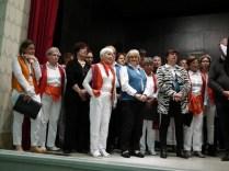 Les chorales réunies pour le chant commun