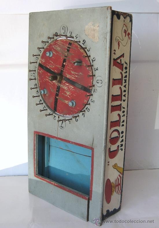 """El mítico juego de los caramelos (Barquillero) fue protagonista de uno de los personajes del dibujante de """"La Traca"""" Juan Pérez Del Muro: Colilla. Fuente: todocoleccion.net"""