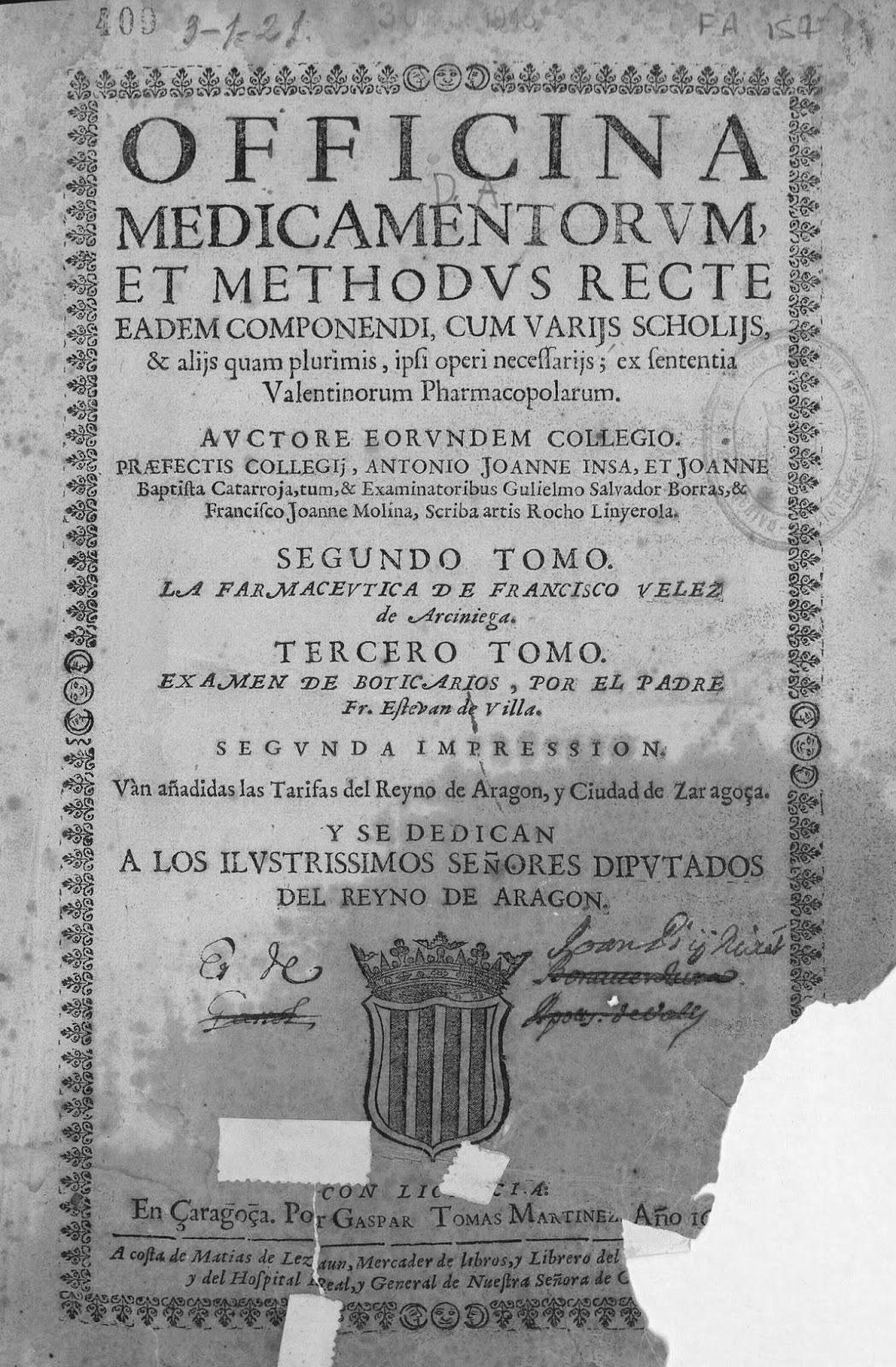 Officina Medicamentorum-Biblioteca Virtual de la Diputación de Zaragoza