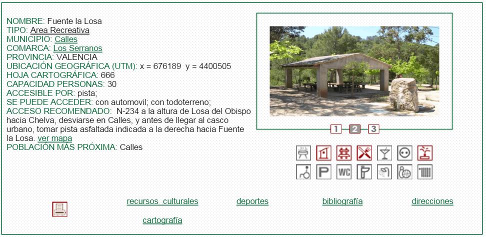 nº8 NOMBRE: Fuente la Losa. TIPO: Área Recreativa.