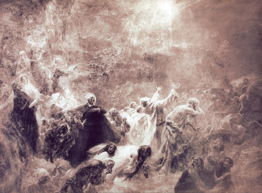 Oleo sobre lienzo de José Benlliure Gil, obra original de antes de 1918.