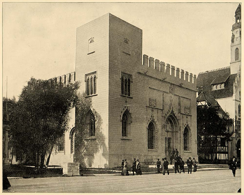 edificio a imitación de La Lonja de Valencia con el que España fue representada en la Exposición Universal de Chicago en 1893.
