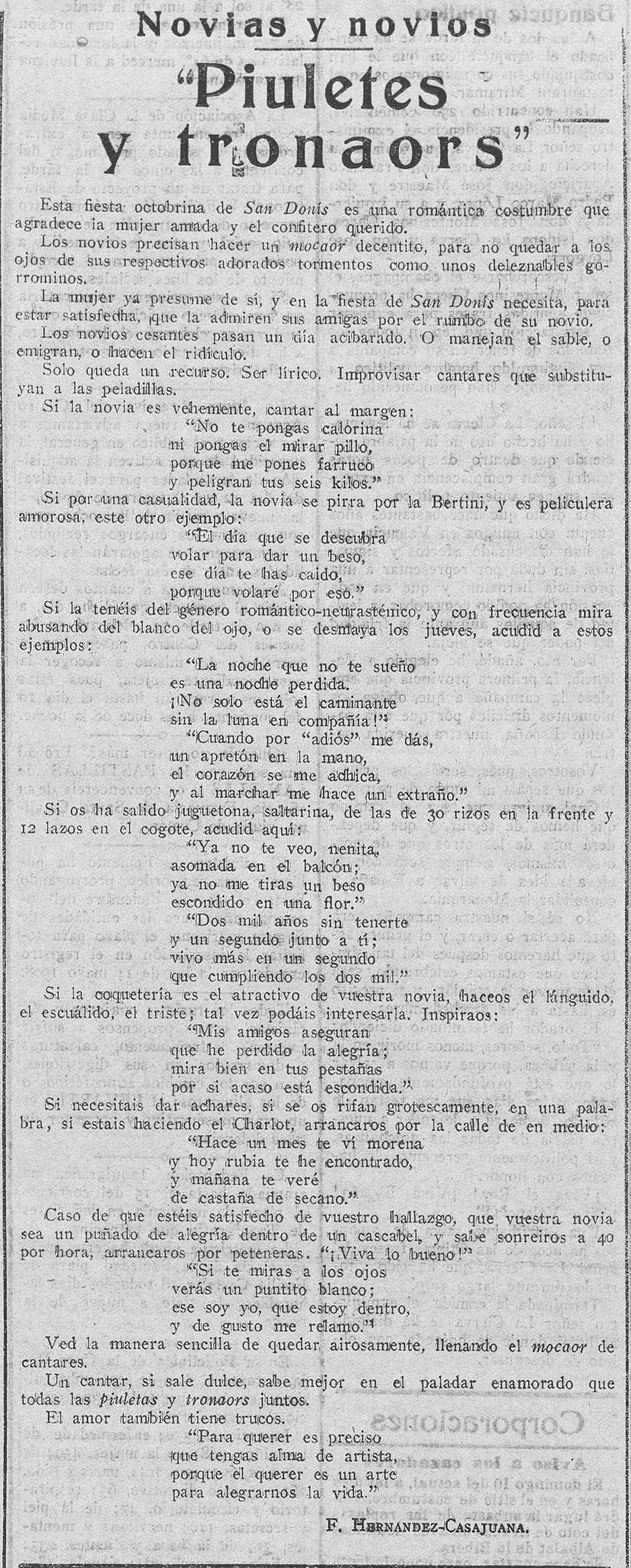 La Correspondencia de Valencia, 7 de octubre de 1920.