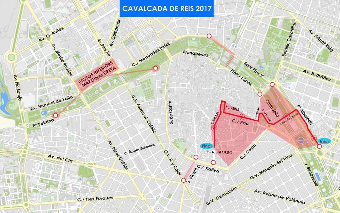 Cabalgata Reyes Magos Valencia 2017