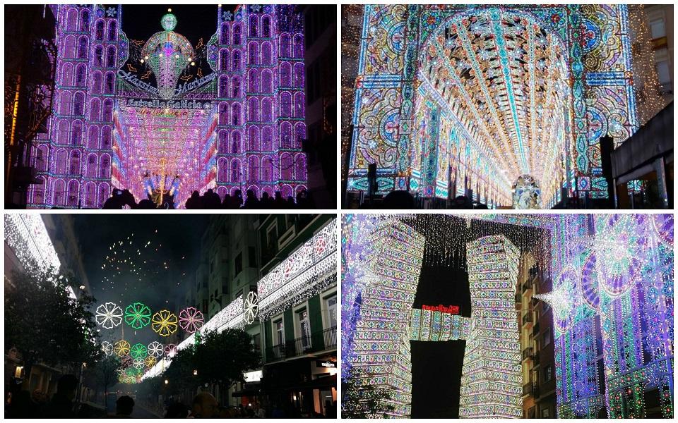 Encendido de luces Fallas 2017 - Iluminación calles importantes Fallas 2017