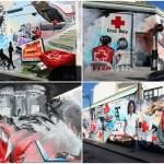 La historia de la preciosa pintura mural de la sede de Cruz Roja Valencia