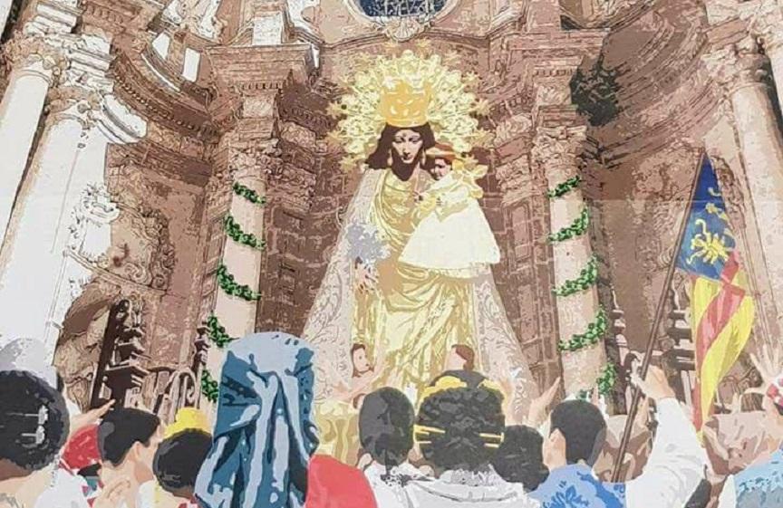 Así es el precioso tapiz floral de la Virgen que se instalará este viernes