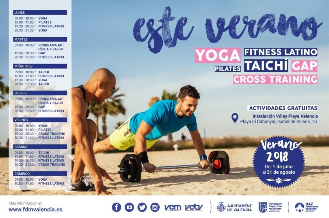 Un estiu d´esport 2018 en las playas de Valencia