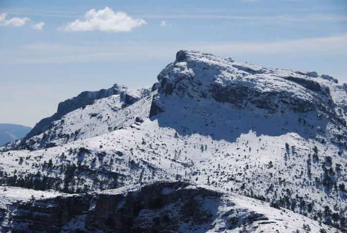 Bergkette Mariola in Valencia