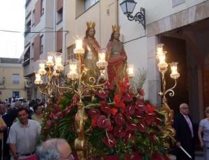 Los Santos de la Piedra en una procesión de años pasados en Massarrojos