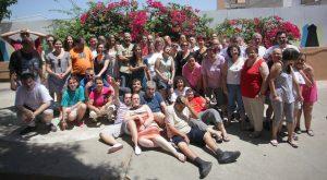 Los alumnos del Juan de Garay posan con la edil Ana Albert