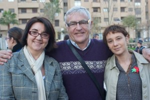 La concejal Pilar Soriano, a la derecha, junto a Consol Castillo y Joan Ribó