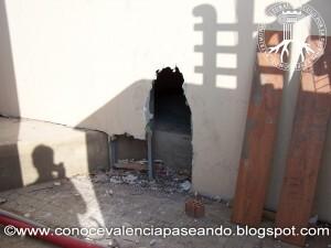 Uno de los agujeros de las fachadas