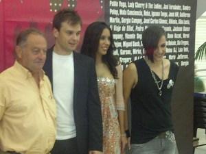 El responsable de Acrebo, Vicente Seguí, Sandra Polop y Garson/vlcciudad