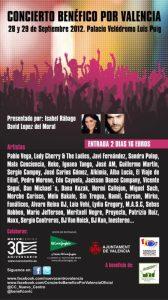 El cartel del concierto benéfico en el que estarán 40 artistas durante dos días en la Fonteta/vlcciudad