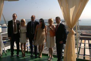 Los responsables de Grimaldi y de LKW International Transport/miguel calatayud