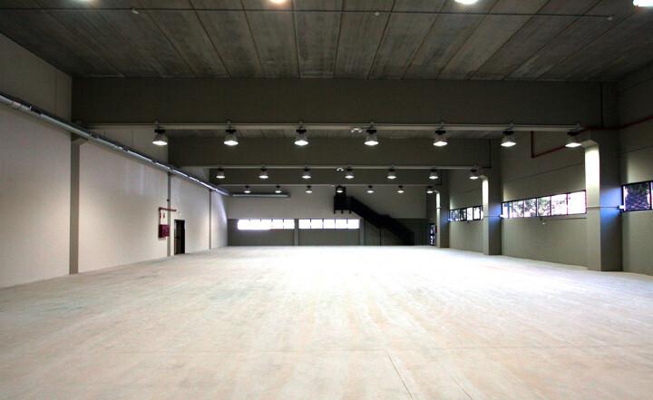 Interior de una de las salas del polideportivo de Benimaclet