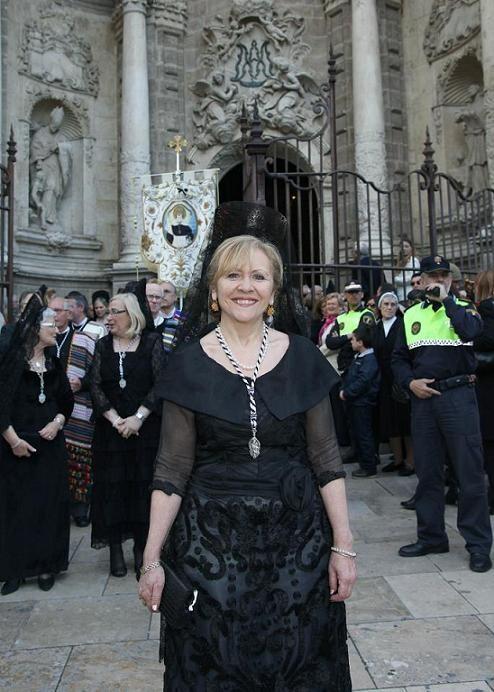 La Honorable en la procesión de San Vicente Ferrer de 2011 como Clavariesa de El Mercat/vlcciudad