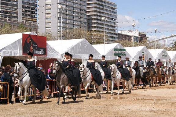 Un grupo de amazonas en la Feria Andaluza que se celebró hace poco/Isaac Ferrera