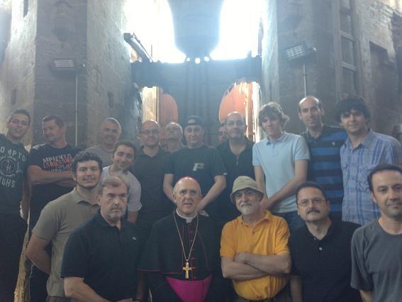 Los campaneros con el arzobispo de Valencia/avan