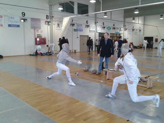 Un combate de uno de los torneos celebrados en Benimaclet