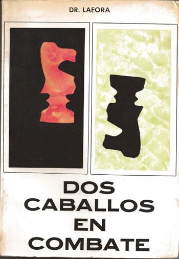 """Portada de 'Dos caballos en combate"""". Ejemplar de la biblioteca del autor"""