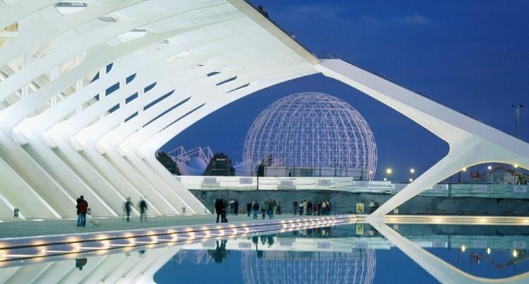Una imagen de la Ciudad de las Artes y las Ciencias.