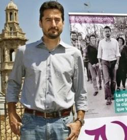Jordi Peris, portavoz municipal de València en Comú, en su calidad de concejal de Participación Ciudadana, acudirá al eje de Participación. (Foto-Valencia Noticias).