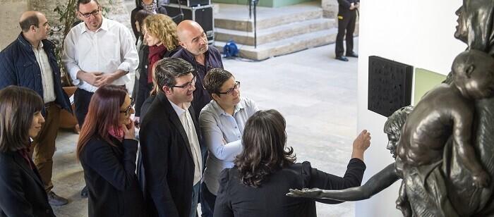 La exposición 'Escenarios de la impunidad', que podrá visitarse estos días en el patio del Palau de la Scala (Foto-Abulaila).
