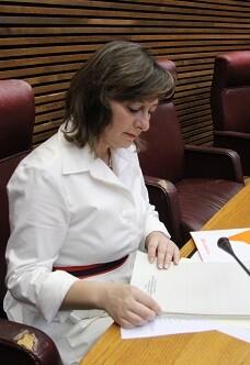 María José García, diputada de Ciudadanos en Les Corts.