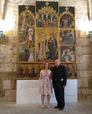 A la presentación asistieron la subdirectora de IVC+R, Gemma Contreras, Pere Saborit, Deán de la catedral de Segorbe, y los técnicos que han llevado a cabo la intervención.