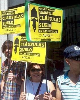 Protesta por las cláusulas suelo.