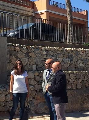 El diputado de Hacienda Toni Gaspar durante su visita a Gilet.
