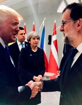 Trump y Rajoy.