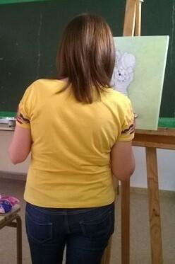 Una estudiante de la Universidad Popular.