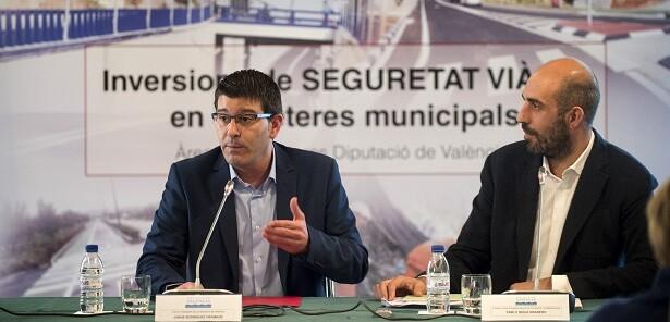 Jorge Rodríguez y el diputado Pablo Seguí.