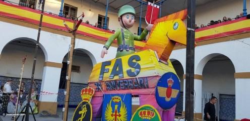 XXX edición de la Falla de las Fuerzas Armadas y Guardia Civil . (2)