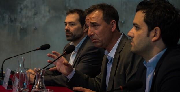 Robert Raga, Juan Antonio Sagredo y Massimo Marras.