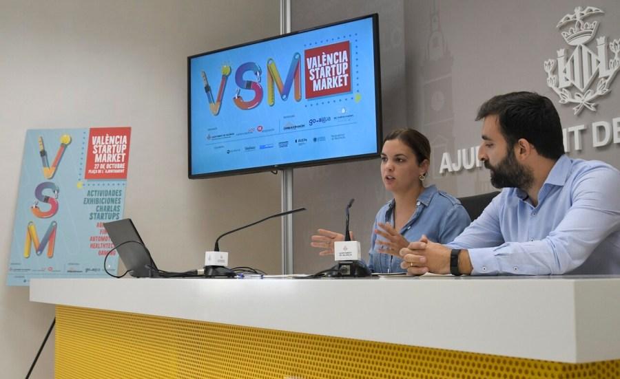 Sandra Gomez durante la rueda de prensa de esta mañana parapresentar Valencia startop market