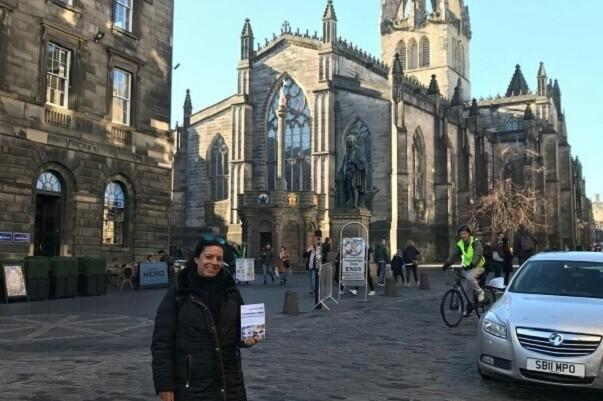 Dulce Díaz, delegada de LIBRO, VUELA LIBRE en Edimburgo
