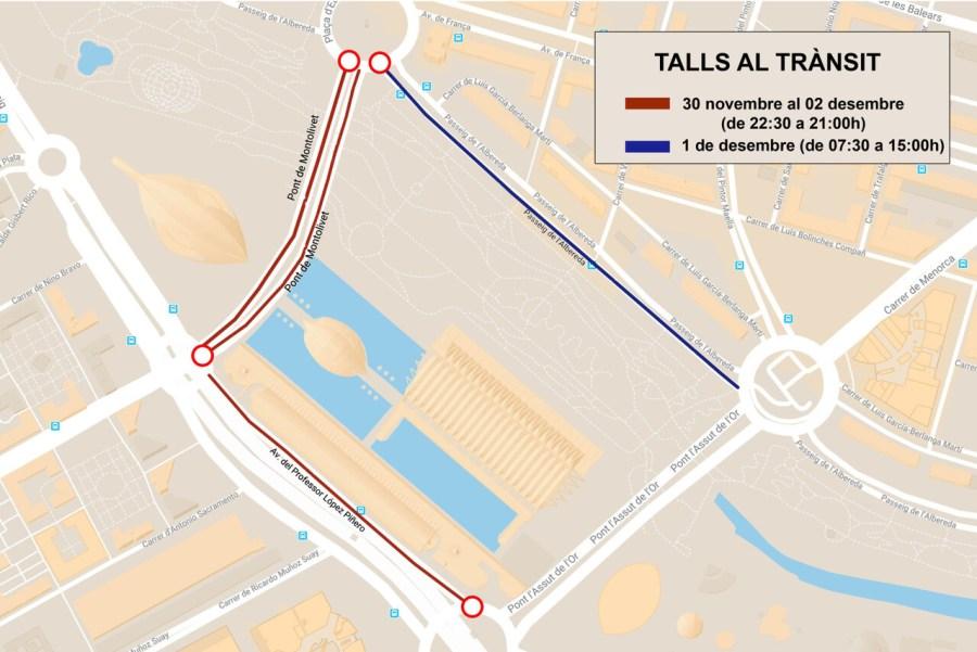 1130 Marató 2018. Talls trànsit