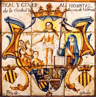 Foto: Escut del Hospital General de Valencia en el segle XVIII