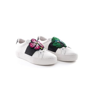 Moa Sneakers bianco applicazione Flower/animal