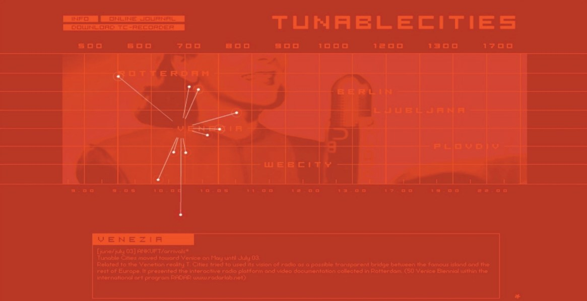 Tunablecities.org website first prototype
