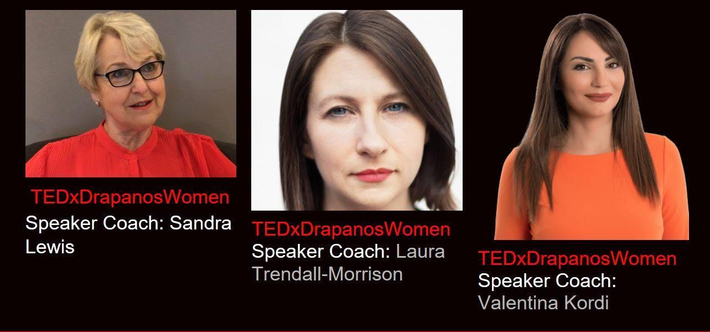 Valentina Kordi speaker coach at TEDxDrapanosWomen
