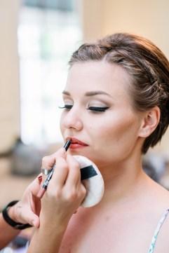 Bridal makeup at House of Laurels, Maleny