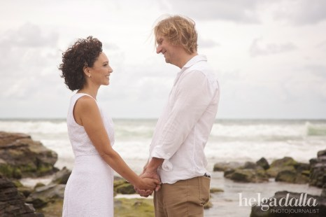 Taya and Mark Romantic Beach Wedding