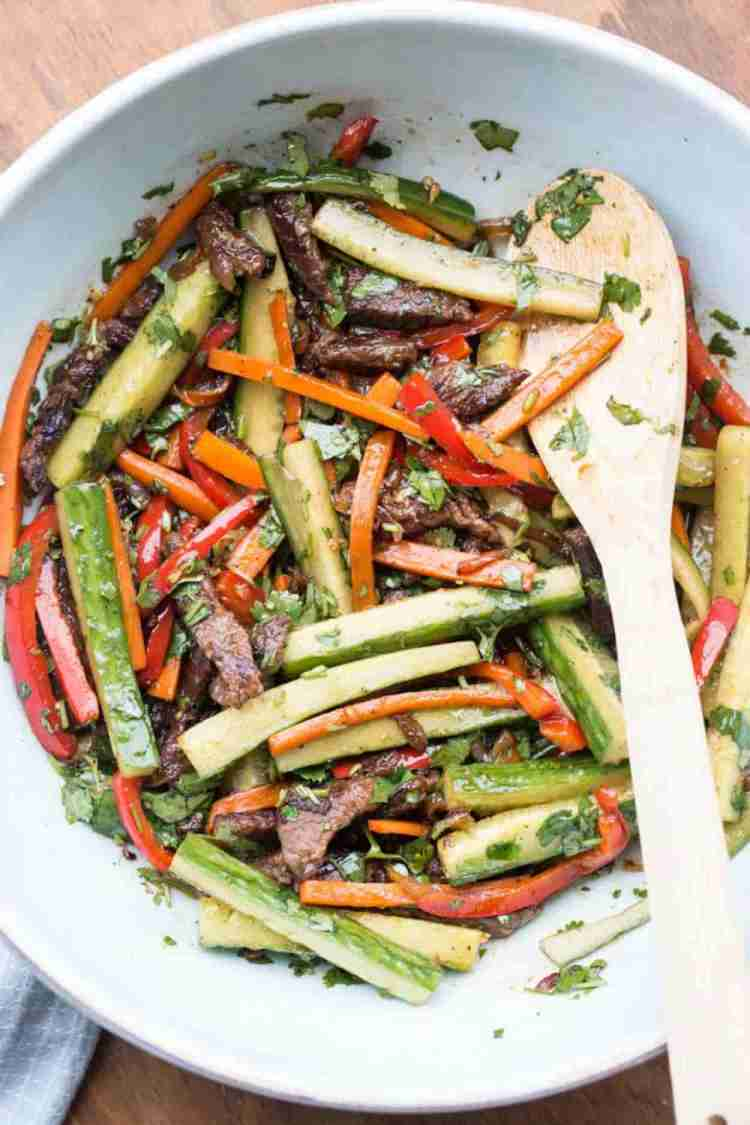 Steak and Vegetables Salad