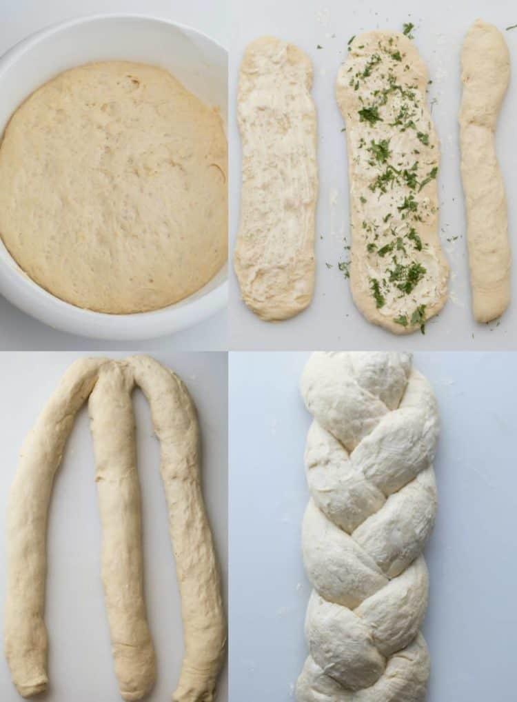 Butter Herb Braided Bread Valentinas Corner